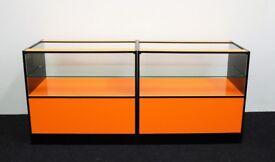 Shop Counter set of 2 units Orange and Black Gloss Finish/ Ref: 0329