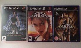 3 Lara Croft: Tomb Raider games for PS2