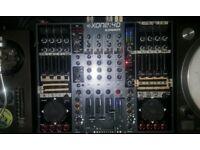 Allen & Heath Xone 4D DJ mixer, cover and flightcase