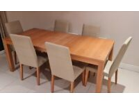 Extendable Oak Table & 6 Chairs