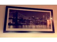 Framed New York Skyline Wall Art