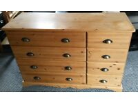 Super Solid Pine Chest of Drawers/Sideboard. Unusual configuration