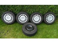 5 off Vauxhall Corsa/Astra 185 x 70 x 14 Wheels, Tyres and Wheel Covers
