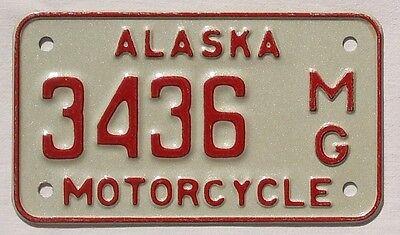 Alaska USA Motorrad Biker Nummernschild - Motorcycle License Plate