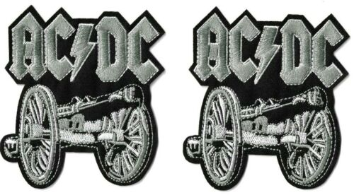 AC/DC - Cannon [Lot of 2] Logo Symbol Patch Embroidered Iron On or Sew On / ACDC