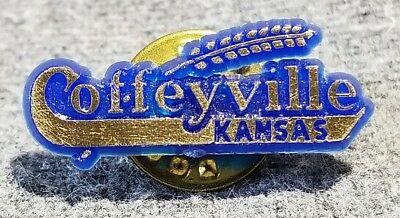 Lmh Pin Pinback Tie Lapel Coffeyville Kansas Farming Wheat Grain Ks