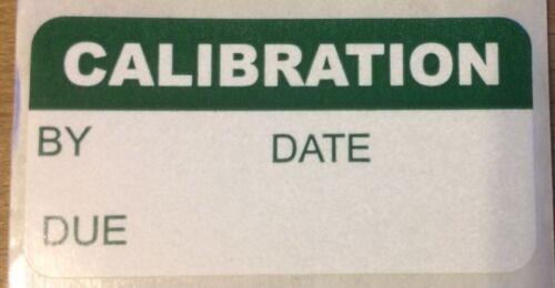 Lab equipment calibration label sticker