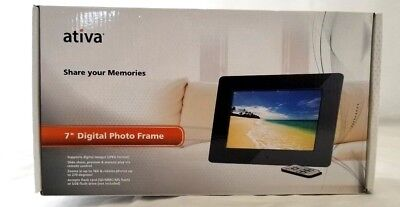 """ATIVA 7"""" Digital Photo Frame with Remote Control Share your memories BRAND NEW"""
