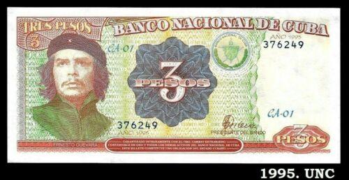 Banknote Che $3 pesos (Second Model) 1995. UNC