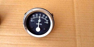 Ammeter 2 60-0-60 Ampere Meter For Trucks Tractors Bus Generator 1 Pcs