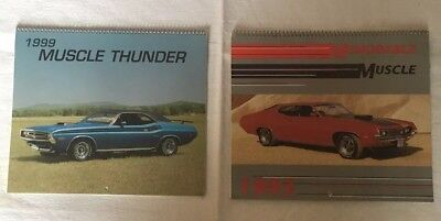 Vintage Muscle Thunder Cars Calendars 1993 & 1999  Great Classic Cars