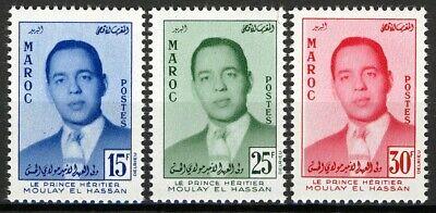 Morocco 1957, Prince Moulay el Hassan Crown Prince set VF MNH, Mi 426-28 cat 8€