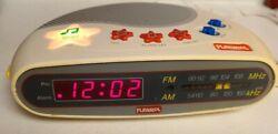 VTG PLAYSKOOL Alarm Clock Radio Kids Toy Music Player Digital AM/FM PS-360