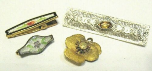 ANTIQUE VINTAGE JEWELRY LOT OF 4 PIECES PINS PENDANT MOSTLY GOLD FILLED 8.8 GRAM