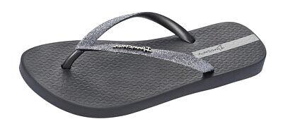 Ipanema Sparkle Womens Flip Flops Beach Glitter Sandals Dark-Grey RRP £19.95