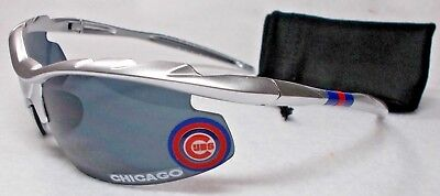 READ LISTING! Chicago Cubs XLGE 3D logo on XTREME MET. SILVER Blade - Mets Sunglasses