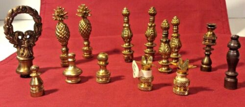Vintage Lot of 14 FINIALS Ornate Decorative Lamp Collectible 4 Pairs & 6 Singles