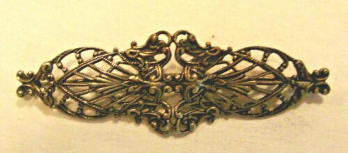 VTG DECO SIGNED Joseff Of Hollywood Silver Tone PIN BROOCH