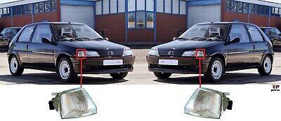 FOR PEUGEOT 106 91-96 NEW FRONT FENDER INDICATOR LIGHT LAMP WHITE PAIR SET