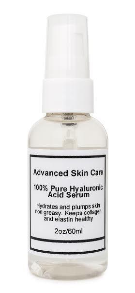 100% Pure HYALURONIC ACID SERUM Anti-Aging-Plumps Wrinkles-