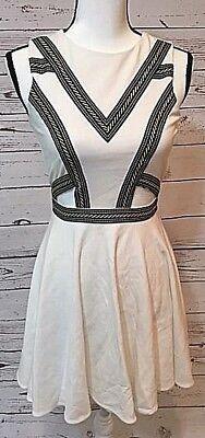 Bebe Women's Sleeveless White Party Dress, Size Small, PRICE DROP!!! - Bebe Party Dress