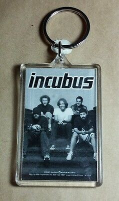 AS-IS INCUBUS B&W SITTING ON STAIRS GROUP BAND PHOTOS KEY CHAIN KEYCHAIN