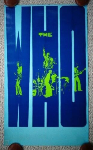 The Who Promotional Poster Decca MCA Records 1971 Rare