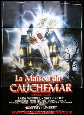 LA MAISON DU CAUCHEMAR Ghosthouse Affiche Cinéma 160x120 French Movie Poster