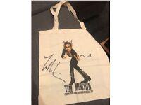 Tim Minchin autographed canvas bag