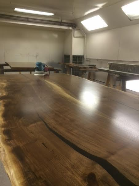 Live Edge Table Reclaimed Wood Slab Dining Table Kitchen