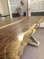 LIVE EDGE TABLE RECLAIMED WOOD SLAB DINING TABLE KITCHEN TABLE