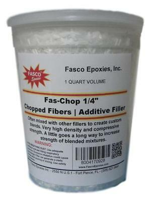 "1 Quart Fiberglass Chopped Strands 1//4/"" Glass Fibre"