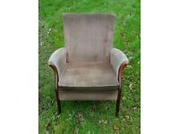 Parker knoll style easy chair with side arms great frame