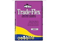Palace Rapid Set Trade Flex tile adhesive 20kg x 3