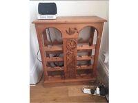 Pine wood wine cabinet