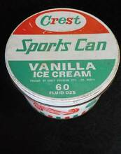 Vintage Crest Ice Cream Tin O'Connor Fremantle Area Preview