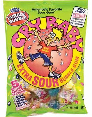 Cry Baby Candy (Americas Original Dubble Bubble Cry Baby Extra Sour Bubble Gum 4 oz Bag)