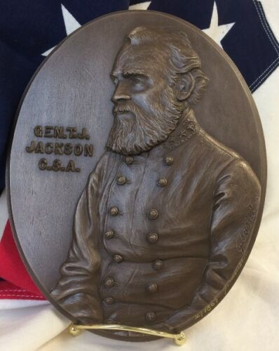 "Gen. Thomas ""Stonewall"" Jackson – Plaque in Bonded Bronze"