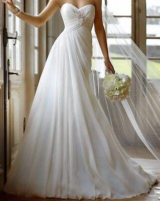 Stella York Lace Up Chiffon Wedding Dress - Style 5757 - Size 8 - New With Tags