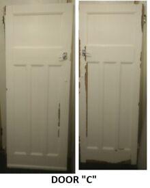 1930s Door - original - interior internal exterior external - one 1 panel over three 3 antique deco