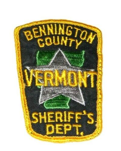 Bennington County Vermont Sheriff`s Dept. Police Patch