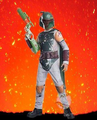 New Boba Fett Star Wars Classic Bounty Hunter Dress Up Halloween Child Costume](Boba Fett Costume Kids)