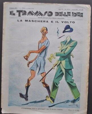 Settimanale Satirico Travaso delle Idee Organo Persone Intelligenti 1932