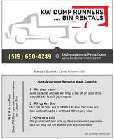 KW Dump Runners . . . . Bin Rentals NEW TIPPING PRICE