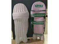Kippax cricket pads and Mitre bag
