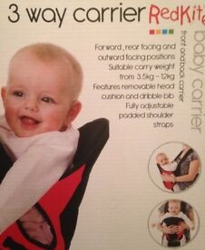 Red kite baby carrier like new