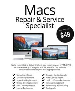 Mac Service and Repair - Macbook/Pro Liquid Damage RepairApple
