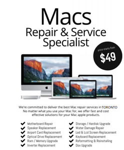 Mac Service and Repair - Macbook/Pro Liquid Damage RepairApple
