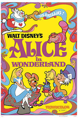 Alice in Wonderland Disney cartoon movie poster print #A15 on Rummage