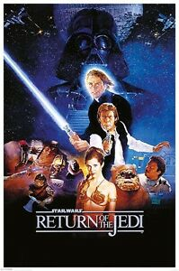 STAR-WARS-Return-of-the-Jedi-One-Sheet-POSTER-61x91cm-NEW-Han-Solo-Vader-Luke